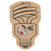 Cork Coaster - Energy Light Bulb - Full Color