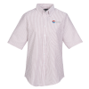 View Image 1 of 2 of Easy Care Short Sleeve Stripe Oxford Shirt - Ladies'