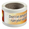 """View Image 1 of 4 of Water Bottle Label - 2"""" x 8"""""""