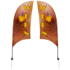View Image 1 of 2 of Outdoor Value Razor Sail Sign - 7-1/2' - Two Sided