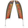 View Image 1 of 2 of Outdoor Value Razor Sail Sign - 15' - Two Sided