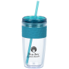 View Image 1 of 3 of Refresh Pebble Tumbler with Straw - 16 oz.