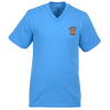 5.4 oz. Tag Free V-Neck T-Shirt - Men's - Colors - Emb