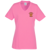 5.4 oz. Tag Free V-Neck T-Shirt - Ladies' - Colors - Emb