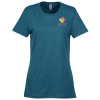 View Image 1 of 3 of Jerzees Dri-Power Tri-Blend T-Shirt - Ladies' - Embroidered
