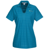 Textured Stripe Polo - Ladies' - 24 hr