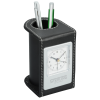 Traverse Desk Clock with Pen Cup - 24 hr