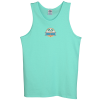 Adult 5.2 oz. Cotton Tank Top - Embroidered