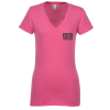 4.3 oz. Ringspun Cotton V-Neck T-Shirt - Ladies' - Screen