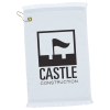 """View Image 1 of 2 of Fringed Golf Towel - 18"""" x 11"""" - White"""