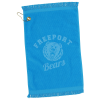 """View Image 1 of 3 of Fringed Golf Towel - 18"""" x 11"""" - Color"""