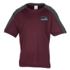 Contender Shoulder Block Athletic Tee - Youth - Embroidered