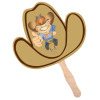 Hand Fan - Cowboy Hat - Full Color - 24 hr