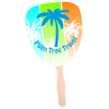 Hand Fan - Palm Leaf - Full Color - 24 hr