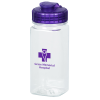 PolySure Squared-Up Water Bottle with Flip Lid - 16 oz. - Clear
