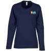 Anvil Ringspun 4.5 oz. LS T-Shirt - Ladies' - Colors - Emb