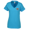 Anvil Ringspun 4.5 oz. V-Neck T-Shirt - Ladies' - Colors - Emb