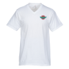 Anvil Ringspun 4.5 oz. V-Neck T-Shirt - Men's - White - Emb
