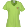 Principle Performance Blend Ladies' V-Neck T-Shirt - Colors - Emb