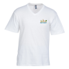 Perfect Weight V-Neck Tee - Men's - White - Embroidered