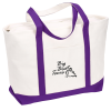Large Heavyweight Cotton Canvas Boat Tote - Screen - 24 hr