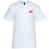 Hanes Beefy-T - Embroidered - White - 24 hr
