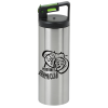 Rover Stainless Vacuum Bottle with Flip Straw - 18 oz.