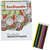 Stress Relieving Adult Coloring Book & Pencils - Zen Doodle