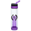 Carabiner Flip Straw Lid Infuser Bottle - 24 oz.