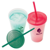 Color-Changing Tumbler with Straw