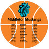 Sports Schedule Magnet - Basketball