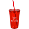 Customized Acrylic Tumbler with Straw