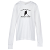 Bella+Canvas Long Sleeve Crewneck T-Shirt - Youth - White - Screen