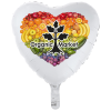 """View Image 1 of 3 of Full Color Foil Balloon - 17"""" - Heart"""