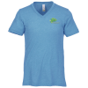 View Image 1 of 2 of Bella+Canvas Tri-Blend V-Neck T-Shirt - Men's - Embroidered