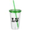 Customized Acrylic Tumbler with Straw - 16 oz. - Clear - 24 hr