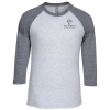View Image 1 of 3 of Unisex Tri-Blend Baseball Tee - Screen