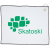 """View Image 1 of 2 of Waffle Knit Golf Towel - 15"""" x 18"""" - 24 hr"""