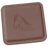View Image 1 of 3 of Vintage Square Bonded Leather Coaster