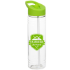 View Image 1 of 3 of Clear Impact Halcyon Water Bottle with Flip Straw - 24 oz.