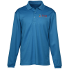 View Image 1 of 3 of Spin Dye Long Sleeve Pique Polo - Men's