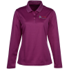 View Image 1 of 3 of Spin Dye Long Sleeve Pique Polo - Ladies'