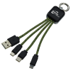 View Image 1 of 6 of Ridge Line Light-Up Logo Charging Cable