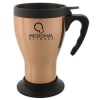 Sigillato Steel Mug with Handle and Base - 14 oz.