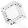 "View Image 1 of 3 of Crystal Corner Block Award - 2"""