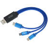 View Image 1 of 5 of Illuminate Light-Up Logo Charging Cable