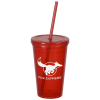 View Image 1 of 2 of Grandstand Insulated Stadium Cup - 16 oz. - Lid