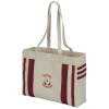 Fletcher 16 oz. Cotton Striped Tote - Embroidered