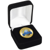 View Image 1 of 5 of Circle Lapel Pin with Gift Box