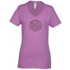 View Image 1 of 2 of Gildan 5.3 oz. Cotton V-Neck T-Shirt - Ladies' - Colors